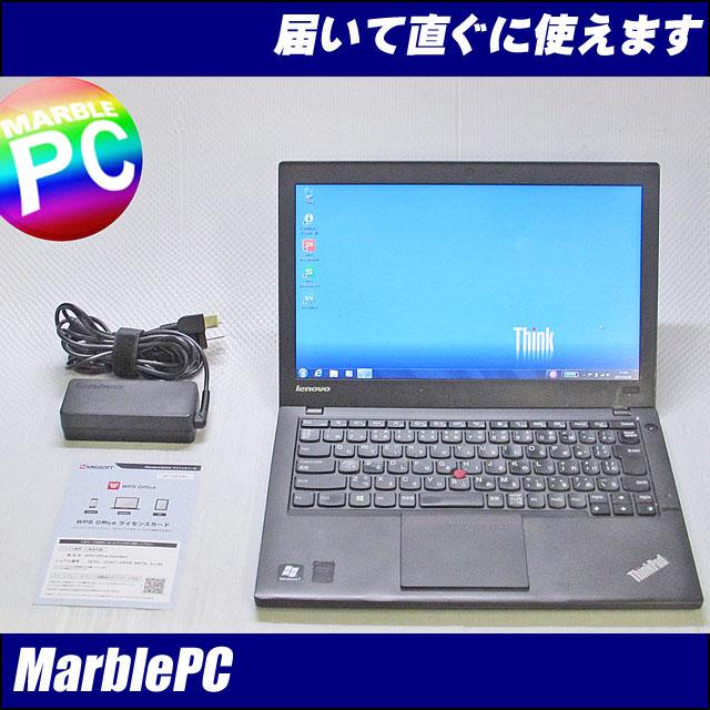 中古パソコン Lenovo ThinkPad X240/TYPE 20ALA03GJP/Corei5-4300U 1.9GHz/MEM4GB/HDD500GB/WLAN/Bluetooth/Win7PRO-64bit/WPS Office/【中古】