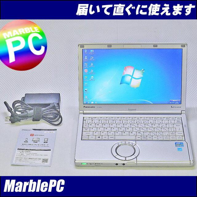 中古パソコン Panasonic Let's note NX2AWGCS/Corei5-3340M 2.7G/12.1WXGA++/MEM4GB/HDD250GB/WLAN/Windows7Professional-32/累積7330h/WPS Office【中古】