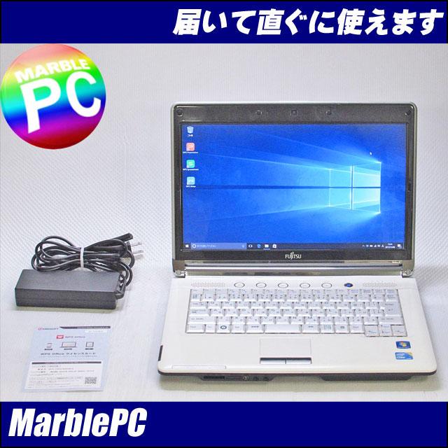 中古パソコン 富士通 LIFEBOOK LH700-3A/アーバンホワイト/Corei3-350M 2.26G/MEM4G/HDD320G/マルチ/14型WXGA/WLAN/Win10Home-64(MAR)/WPS Office/訳有【中古】