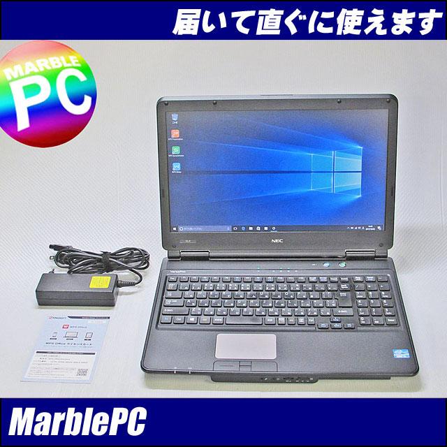 中古パソコン NEC VersaPro VK25TL-F/Corei5-3210M 2.5GHz/MEM4G/HDD320G/マルチ/15.6HD/WLAN/テンキー/Windows10/WPS Office【中古】