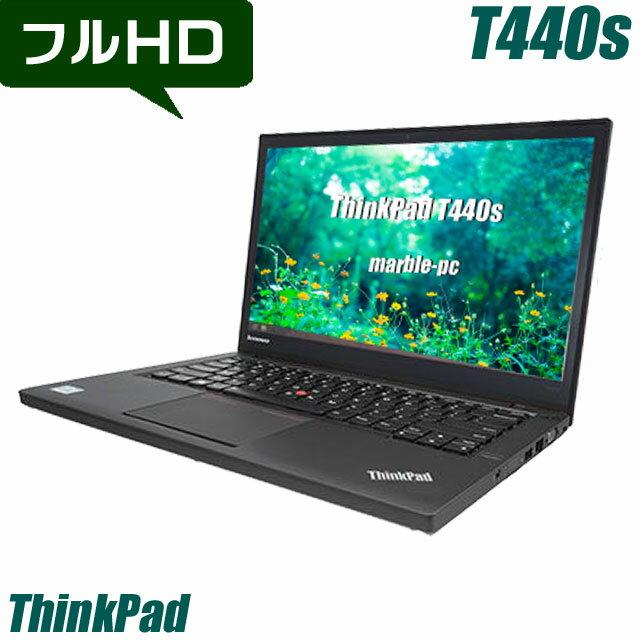 Lenovo ThinkPad T440s 【中古】 メモリ4GB HDD500GB 14.0インチ液晶 フルHD 中古ノートパソコン Windows10 コアi5(1.70GHz)搭載 無線LAN Bluetooth内蔵 WPS Officeインストール済み スリムモバイル 中古パソコン