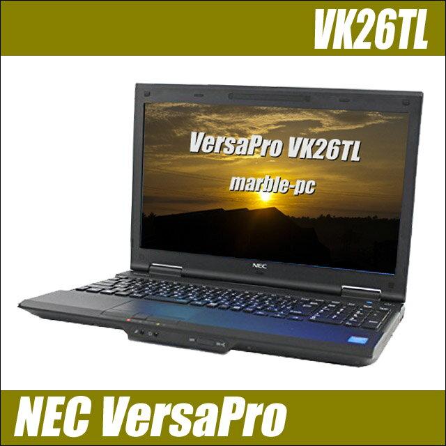 NEC VersaPro タイプVL VK26T/L-J 【中古】 メモリ8GB HDD500GB テンキー付き 15.6インチ液晶 中古ノートパソコン Windows10-Pro コアi5(2.60GHz)搭載 DVDスーパーマルチ 無線LAN Bluetooth内蔵 WPS Officeインストール済み 中古パソコン