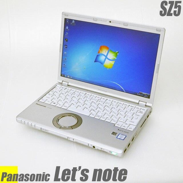 Panasonic Let's note SZ5 【中古】 Windows10-Proモデル メモリ4GB HDD320GB 12.1インチ液晶 中古ノートパソコン コアi5(2.40GHz)搭載 WEBカメラ DVDスーパーマルチ Bluetooth 無線LAN付き WPS Officeインストール済み 中古パソコン
