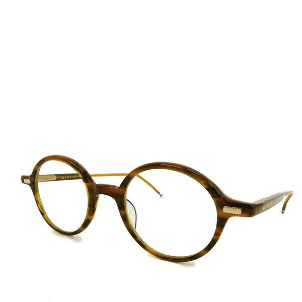 THOM BROWNE NEW YORK トムブラウン ニューヨーク TB 407B 46size メガネ めがね サングラス べっ甲 鼈甲 伊達 アイウェア カラーWLT/ブラウン系 サイズ/