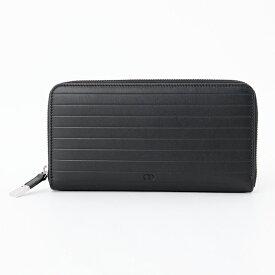 8f92ffc181c9 Dior Homme ディオールオム 2BKBC011 VEA 900U ラウンドファスナー ロゴ 長財布 レザー 900/Black