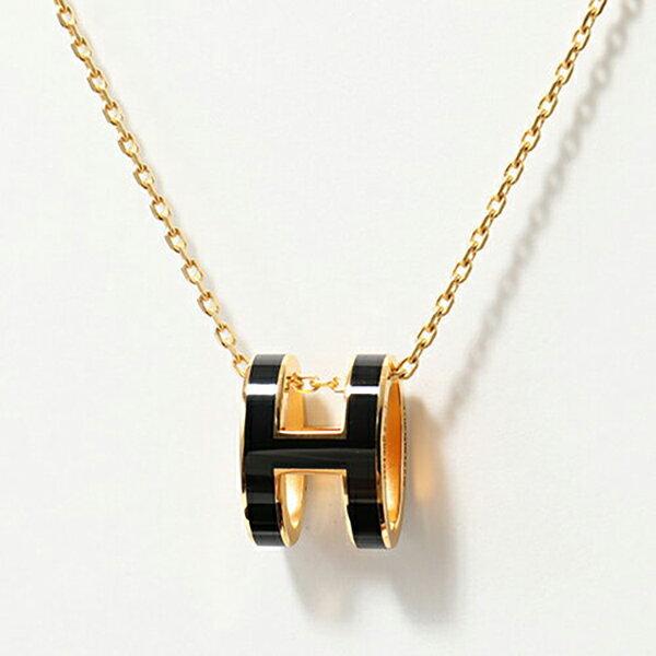HERMES エルメス Pop H 147991F ポップH ネックレス ペンダント カラーBLACK/GOLD レディース