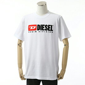 DIESEL ディーゼル 00SH0I 0CATJ T-JUST-DIVISION MAGLIETTA クルーネック 半袖 Tシャツ カットソー ロゴ刺繍パッチ 100 メンズ