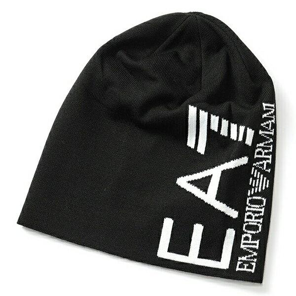 EA7 EMPORIO ARMANI イーエーセブン エアセッテ エンポリオアルマーニ 285382 8A393 ニットキャップ ニット帽 ビーニー 帽子 カラー39220/JETBLACK メンズ