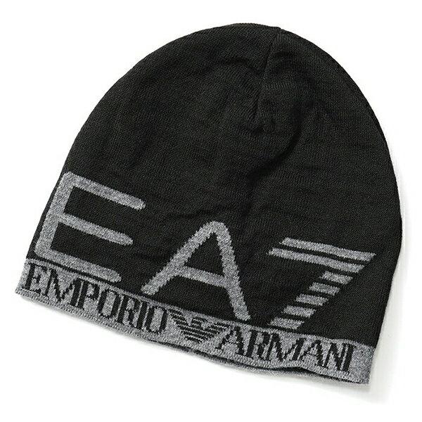 EA7 EMPORIO ARMANI イーエーセブン エアセッテ エンポリオアルマーニ 275560 8A301 ニットキャップ ニット帽 ビーニー 帽子 カラー00020/BLACK メンズ