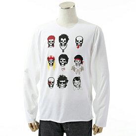 lucien pellat-finet ルシアンペラフィネ EVU2041 長袖 Tシャツ カットソー クルーネック カラーWHITE メンズ