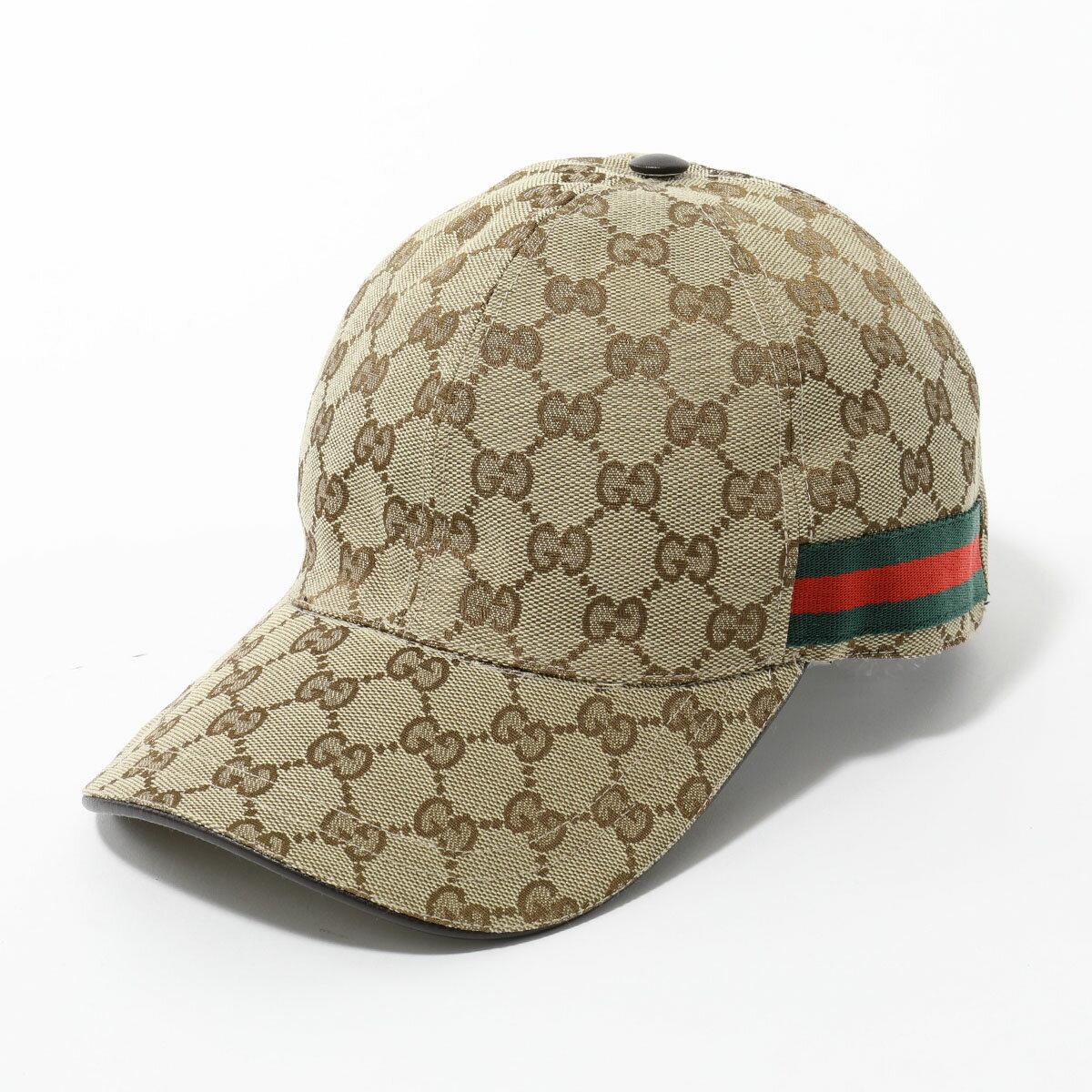 GUCCI グッチ 200035 KQWBG オリジナルGGキャンバス ベースボールキャップ 帽子 ウェブライン カラー9791/BEIGE ユニセックス