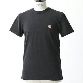 MAISON KITSUNE メゾンキツネ 04287 AM00103KJ 0008 FOX HEAD PATCH 半袖 Tシャツ カットソー クルーネック 丸首 カラーBLACK メンズ