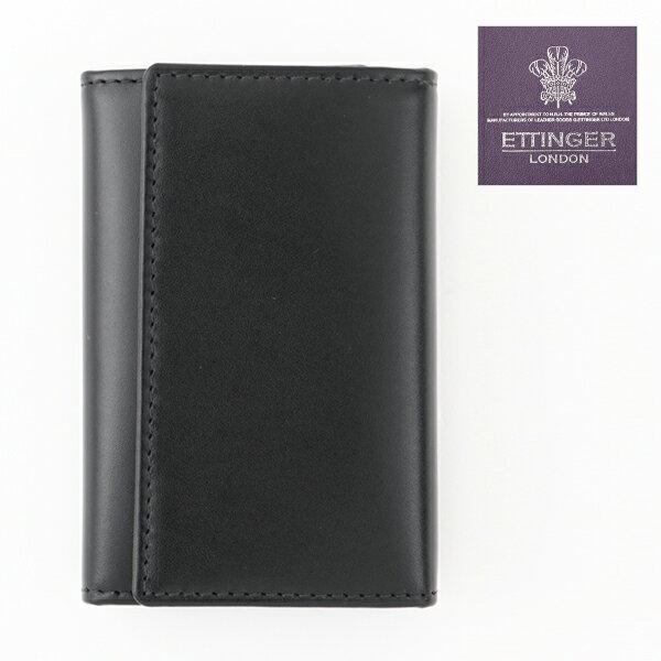 ETTINGER エッティンガー ロイヤルコレクション STERLING ST 2095JR KEY CASE 6連 キーケース ポケット付き グレインドレザー カラーPURPLE/ブラック×パープル メンズ