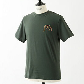 J.W.ANDERSON ジェイダブリューアンダーソン JE27MS18 JWA LOGO クルーネック 半袖 Tシャツ カットソー ロゴ刺繍 カラーMILITARYGREEN メンズ