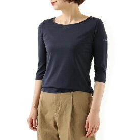 SAINTJAMES セントジェームス GARDE-COTE 3 U UVカット クルーネック 七分袖 Tシャツ カットソー カラーNAVY レディース