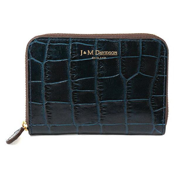 J&M DAVIDSON ジェイアンドエムデヴィッドソン 5259 7464 3900 SMALL ZIP PURSE レザー カードケース ミニ財布 豆財布 カラーNAVY レディース