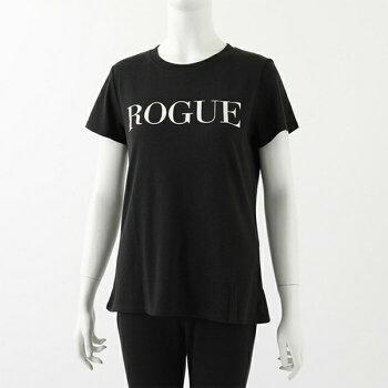 suburbanRIOTサブアーバンライオットW3018-26RougeLooseTeeラウンドネックTシャツ半袖カットソー丸首プリントカラーBlackレディース