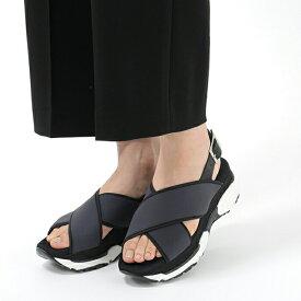 Loreak Mendian ロレアック メンディアン 5963 クロスベルト ストラップ サンダル 靴 カラー/ネイビー レディース 【訳有】