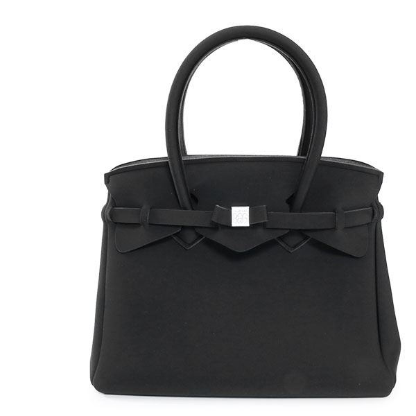 SAVE MY BAG セーブマイバッグ MISS LYCRA 10204N ミス 軽量 ハンドバッグ トートバッグ マザーバッグ Mサイズ カラーNERO/ブラック