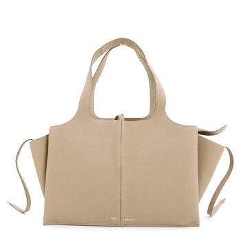 CELINEセリーヌレディース178883AIK18LTTRIFOLDトライフォールドMediumミディアムレザートートバッグハンドバッグ鞄Light-taupe/ベージュ0#oldceline