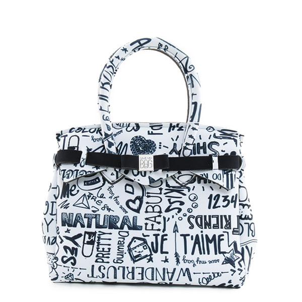 SAVE MY BAG セーブマイバッグ PETITE MISS LOVE WORDS LYCRA 10104N プティ ミス ラブ ワーズ 軽量 ハンドバッグ トートバッグ Sサイズ カラーLOVEWORDS