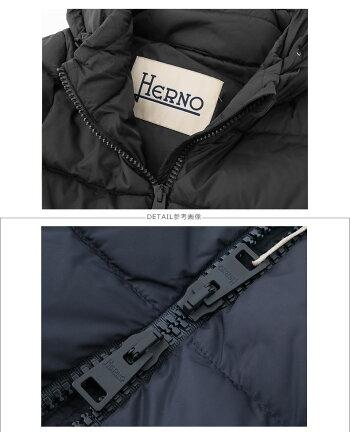 HERNOヘルノPI0662D12004ダウンコートロングコートPOLAR-TECHポーラテックフード付きダウンジャケットWジップアップカラー9389/ブラックレディース