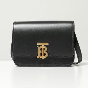 BURBERRY バーバリー 8016798 TB金具パーツ レザー ショルダーバッグ ポシェット BLACK 鞄 レディース