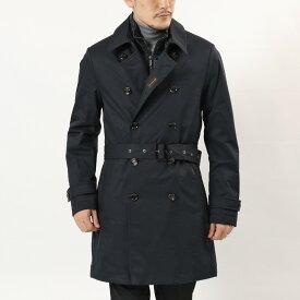 MOORER ムーレー MINOSSE ADS 透湿防水 中綿入り ダブルブレスト トレンチコート スプリングコート ジャケット DARK-BLU メンズ