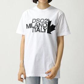 DSQUARED2 ディースクエアード S72GD0169 S22427 ロゴ クルーネック 半袖 Tシャツ カットソー 100 レディース