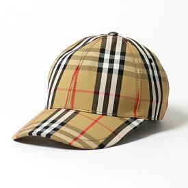 BURBERRY バーバリー 8015833 バーバリーチェック コットン ベースボールキャップ 帽子 ANTIQUE-YEL-IP-CHK メンズ