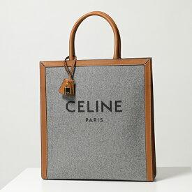 CELINE セリーヌ 190402BUD.10GT Vertical フェルト×レザー トートバッグ Grey/Tan 鞄 レディース