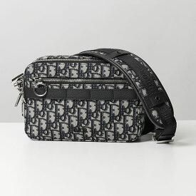 Dior Homme ディオールオム 1SFPO101YKY 26E サファリ SAFARI キャンバス ショルダーバッグ ポシェット ジャガードロゴ BLACK/NAV メンズ
