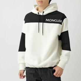 MONCLER GRENOBLE モンクレールグルノーブル 8001550 C8013 04A フリース コンビ パーカー 04A/オフホワイト×ブラック メンズ