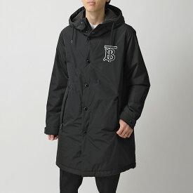BURBERRY バーバリー 8019474 ABERDEEN ナイロン フーデッド コート ジャケット ロゴ BLACK メンズ