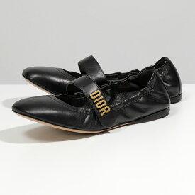 Dior ディオール KCB444LABS900 レザー ラウンドトゥ バレリーナシューズ バレエシューズ フラットシューズ 900/Noir 靴 レディース