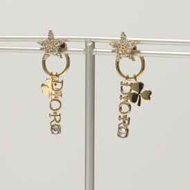 Dior ディオール E1163DVOCY 301U DVO Star & Dior earrings クリスタル装飾 スタッド ピアス 301/Gold-white レディース
