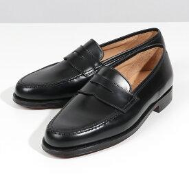 【2,000円OFFクーポン対象!24日〜25日限定】CROCKETT&JONES クロケットアンドジョーンズ 28363A D11L1 Boston レザー シューズ ローファー 革靴 BLACK 靴 メンズ