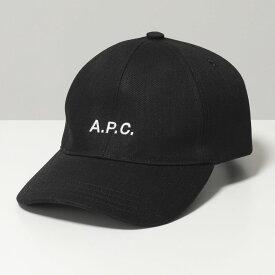 APC A.P.C. アーペーセー CODEZ M24069 Charlie ロゴ刺繍 コットンデニム ベースボールキャップ 帽子 LAD/ANTHRACITE レディース