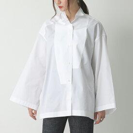 LOEWE ロエベ S2109412GH Oversize Shirt ワイドスリーブ 長袖シャツ アシメ ウィングカラー ブラウス 2100/WHITE レディース