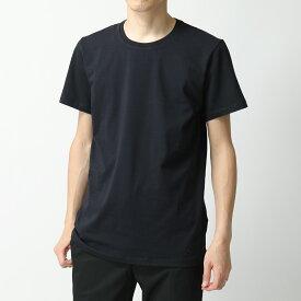JILSANDER+ ジルサンダー プラス JPUQ706512 MQ257308 406 クルーネック 半袖 Tシャツ ストレッチ カットソー ロゴT 刺繍 メンズ