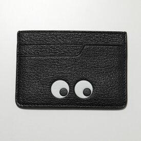 【500円OFFクーポン対象!12月1日限定】ANYA HINDMARCH アニヤハインドマーチ 929141 Eyes Card Case カードケース レザー Black レディース