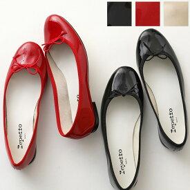 repetto レペット V086V VERNIS CENDRILLON AD BB べべ カラー3色 パテントレザー バレエシューズ フラットパンプス リボン 定番モデル 靴 レディース
