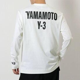 Y-3 ワイスリー adidas アディダス YOHJI YAMAMOTO GK4367 カットソー クルーネック 長袖 Tシャツ ロンT コットン バックロゴ OWHITE メンズ