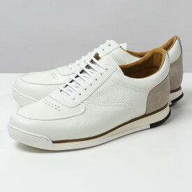 JOHN LOBB ジョンロブ A45Z6UL PORTH RUBBER SOLE ポース 0216ラスト ローカット スニーカー スウェード レザーシューズ 革靴 靴 CHALK/STONE メンズ【2021ss】