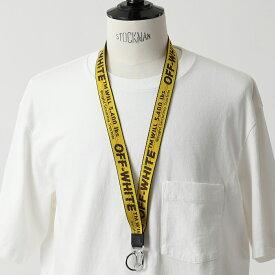 OFF-WHITE オフホワイト VIRGIL ABLOH OMZG052R21FAB001 CLASSIC INDUSTRIAL ジャガードロゴ ネックストラップ カラビナ キーリング 1810/YELLOW メンズ