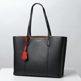 TORY BURCH トリーバーチ 53245 PERRY TRIPLE COMPARTMENT TOTE ペリー レザー トートバッグ 鞄 001/BLACK レディース