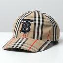 BURBERRY バーバリー 8038504 バーバリーチェック×TB立体刺繍 ベースボールキャップ 帽子 ARCHIVE-BEIGE-IP-CHK メン…