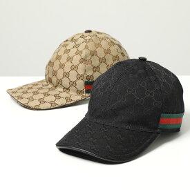 GUCCI グッチ 200035 KQWBG GGキャンバス ベースボールキャップ 帽子 ウェブライン 9791/BEIGE メンズ