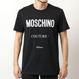 MOSCHINO COUTURE! モスキーノ クチュール 0719 2040 半袖 Tシャツ カットソー ロゴT クルーネック コットン 1555 メンズ