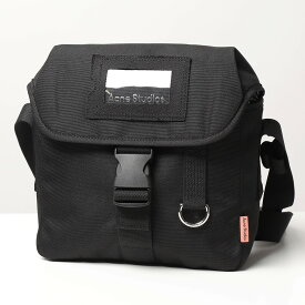 Acne Studios アクネストゥディオズ FN UX BAGS000063 クロスボディバッグ ショルダーバッグ ロゴタグ カメラバッグ 鞄 Black メンズ レディース